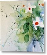 Daisy In The Vase Metal Print