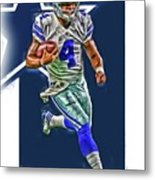 Dak prescott dallas cowboys oil art series 3 art print by for Dak prescott coloring pages