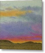 Dakota Sunset Glow Metal Print