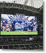 Dallas Cowboys Take The Field Metal Print