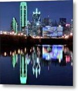 Dallas Dark Blue Night Metal Print
