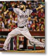 Dallas Keuchel Baseball Metal Print