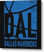 Dallas Mavericks City Poster Art Metal Print