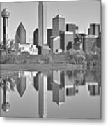 Dallas Monochrome Metal Print