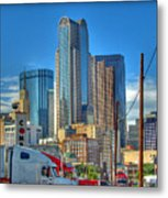 Dallas Morning Skyline Metal Print