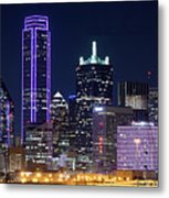 Dallas Purple Night 71417 Metal Print