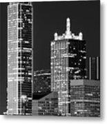 Dallas Shapes Monochrome Metal Print