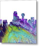 Dallas Skyline 4 Metal Print
