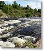 Dalles Rapids French River II Metal Print