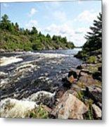 Dalles Rapids French River Iv Metal Print