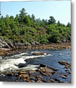 Dalles Rapids French River Ontario Metal Print