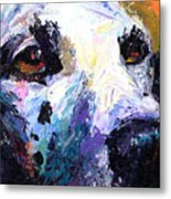 Dalmatian Dog Painting Metal Print