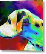 Dalmatian Dog Portrait Metal Print