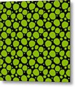 Dalmatian Pattern With A Black Background 09-p0173 Metal Print