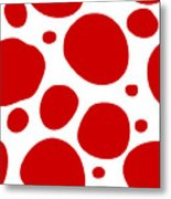 Dalmatian Pattern With A White Background 02-p0173 Metal Print