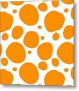 Dalmatian Pattern With A White Background 03-p0173 Metal Print