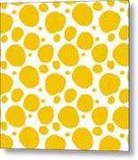 Dalmatian Pattern With A White Background 05-p0173 Metal Print
