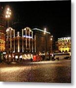 Dam Square Late Night - Amsterdam Metal Print
