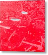 Damaged Red Metal Metal Print