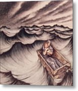 Danae And Her Son Perseus Put In A Chest And Cast Into The Sea Metal Print