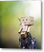 Danbo - Flower Metal Print by Adnan Bhatti