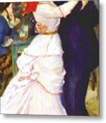 Dance At Bougival 1883 Metal Print