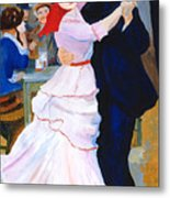 Dance At Bougival After Renoir Metal Print