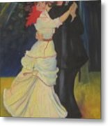Dance At Bougival Metal Print