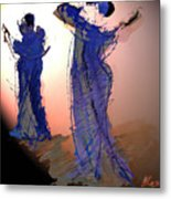 Dance In Purple Metal Print