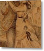 Dance In The Country 1883 Metal Print