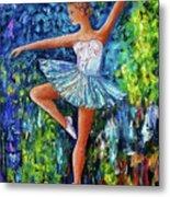 Dance In The Rain Of Color  Metal Print