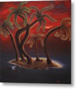 Dance Of The Coconut Palms Metal Print