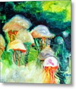Dance Of The Jellyfish Metal Print