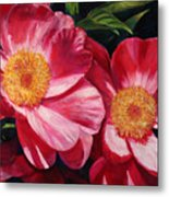 Dance Of The Peonies Metal Print