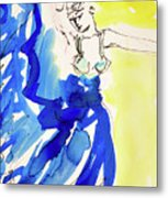 Dancer In Blue Metal Print
