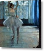Dancer In Front Of A Window Metal Print
