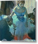 Dancer In Her Dressing Room Metal Print