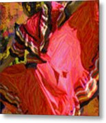 Dancer In Reds Metal Print