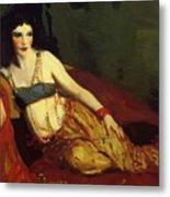 Dancer Of Delhi Betalo Rubino 1916 Metal Print