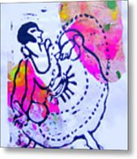 Dancer With Cord Metal Print