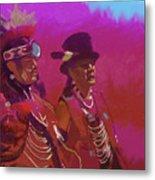 Dancers In Red Metal Print