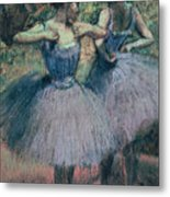 Dancers In Violet  Metal Print