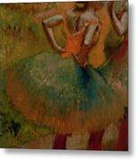 Dancers Wearing Green Skirts Metal Print by Edgar Degas