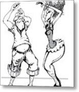 Dancin Fools Metal Print