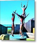 Dancing At Sea Ranch Metal Print
