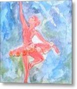 Dancing Ballerina Metal Print