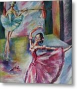Dancing Ballerinas Metal Print