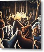 Dancing Bears Painting Metal Print