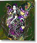 Dancing Butterfly Metal Print