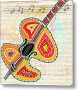 Dancing Cello Metal Print